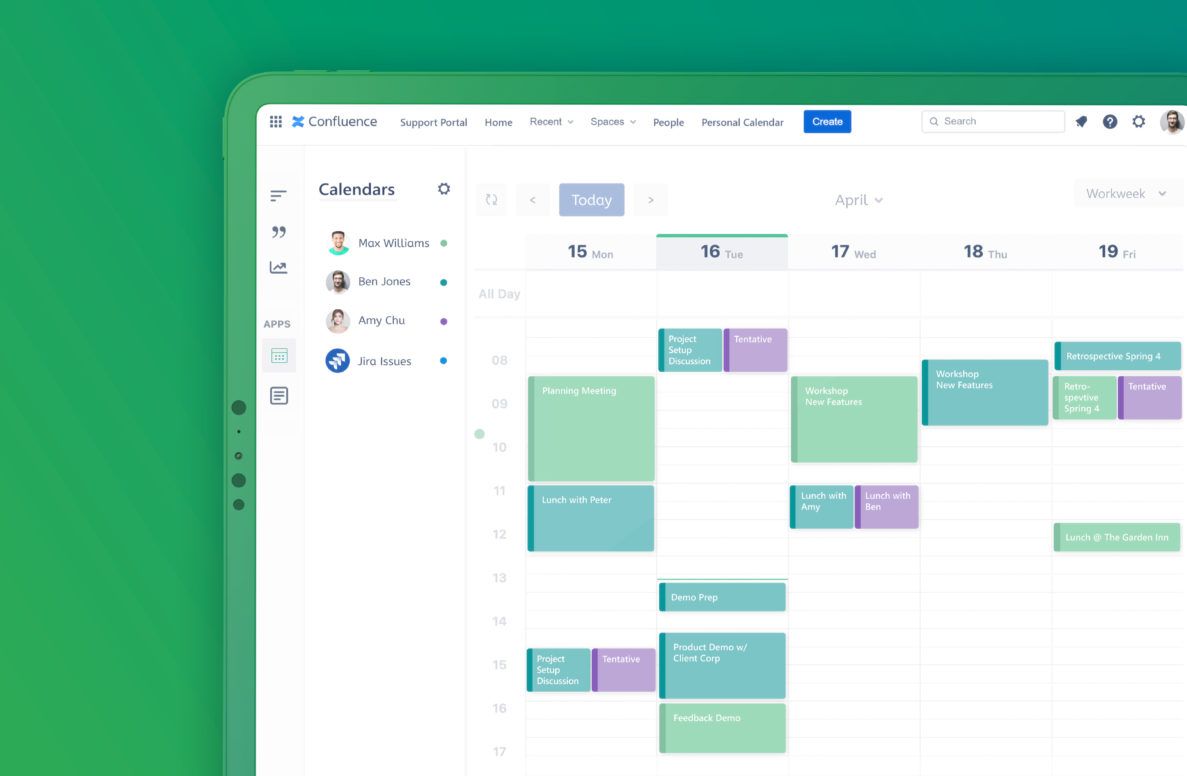 Outlook Calendars for Confluence - Blog - Use Cases