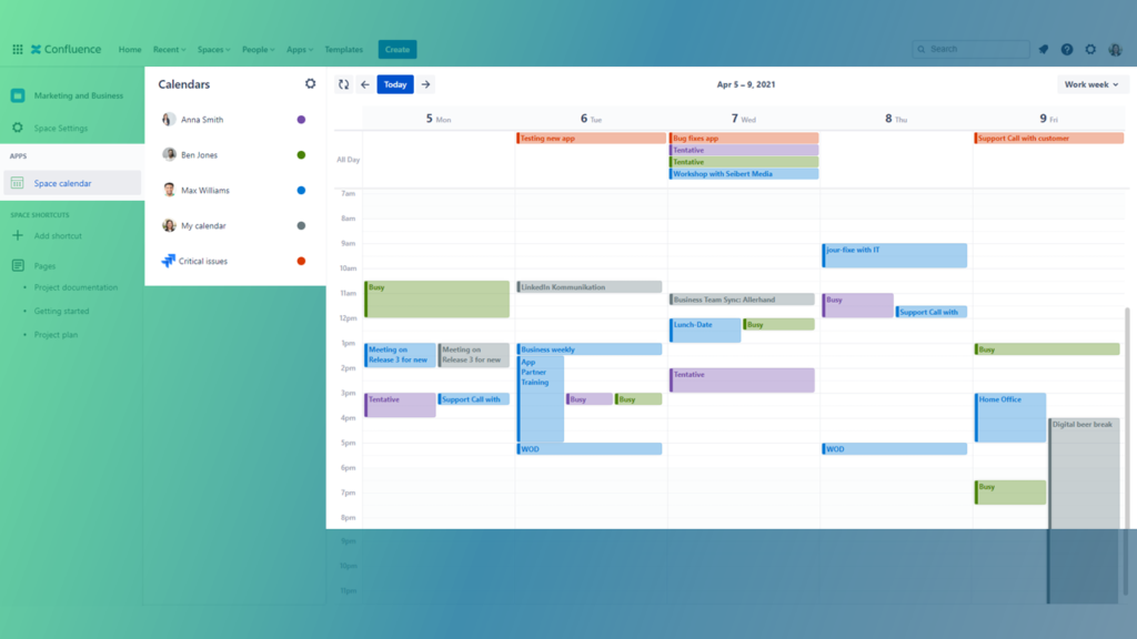Outlook Calendars for Confluence - Service and support